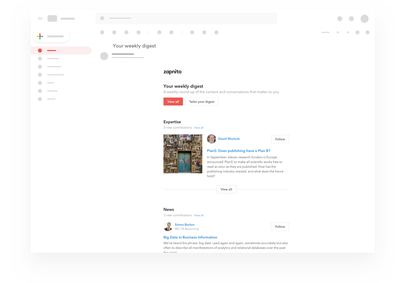 Automatic newsletters