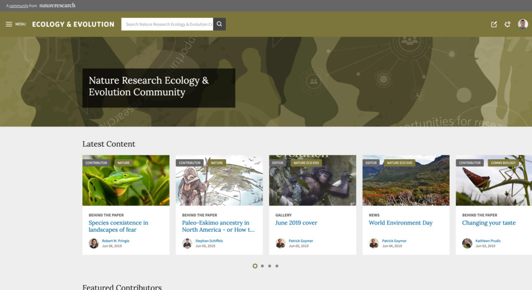 Nature Research Ecology & Evolution Community
