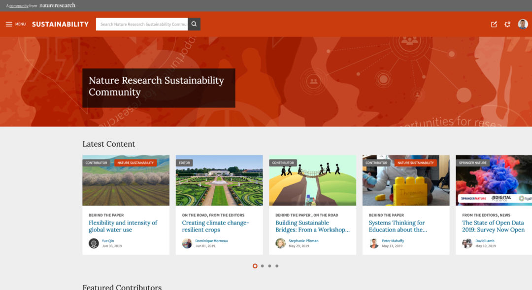 Nature Research Sustainability Community