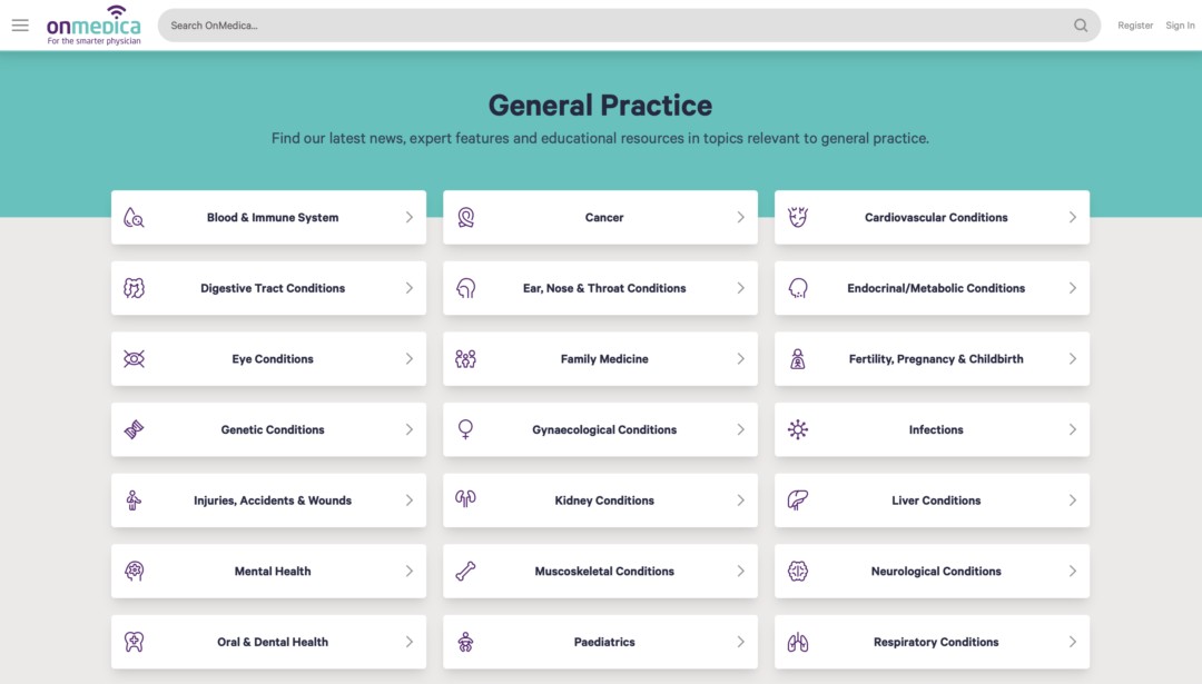 OnMedica community - General Practice page