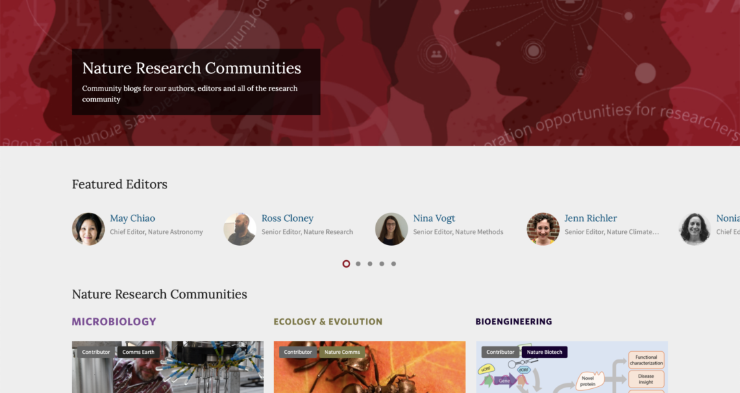 Nature Research communities